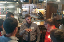 Students connected with alumni in sustainability-related fields during Central's first Green Drinks networking event.
