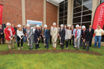 A scene from the groundbreaking ceremony for the P.H. Kuyper Gymnasium renovation.