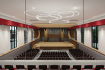 Render of Douwstra Auditorium renovations.