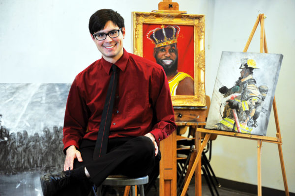 "Brandon Rosas '20 (hometown Parnell, Iowa, population 193) is another multitalented student: He's a writer, a painter and active in Salsa dancing, among other interests. ""I knew that Central had a world-renowned study abroad program, generous financial aid and strong academics and that Central went above and beyond to connect students to opportunities that suit their interests,"" he says."
