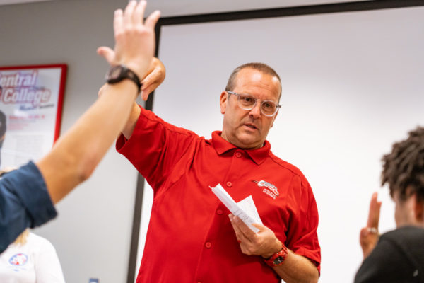 John Roslien, associate professor of exercise science and director of athletic training