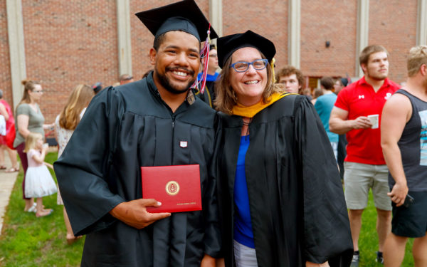 Steven Tuggle and Dawn Reece, associate professor of sociology
