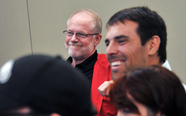 Central College President Mark Putnam smiles during the annual Endowed Chairs Conference.