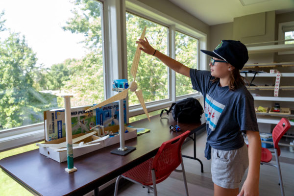 Student participating in a previous STEM camp.