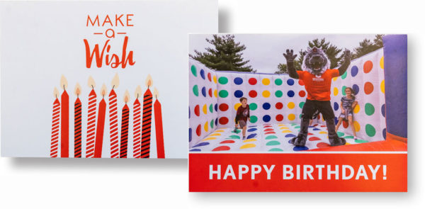 Birthday cards sent to Legacy students
