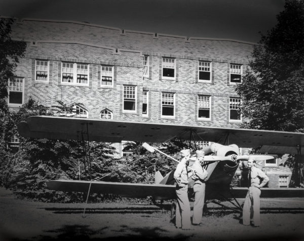 The pilot training program literally took over Graham Hall, transforming it from a women's residence hall to a barracks.