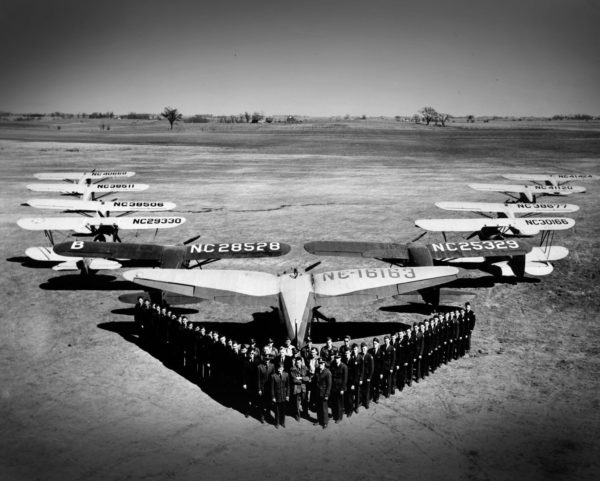 The fleet of training aircraft and the number of cadets had grown significantly by the time the program ended in 1944. This photo shows only half the cadets and one-third of the aircraft present at the program's height.