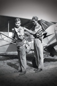 Jake DeHaan and Bob Nemmers getting ready to fly.