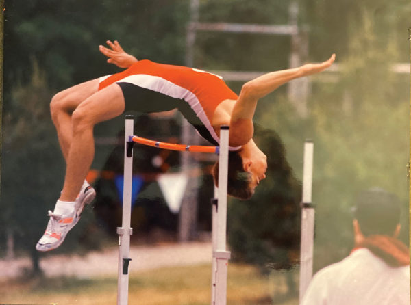 Craig Cantrall '94 competing in the high jump
