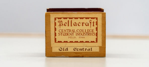 After Pellacraft branding was introduced, many Central Industries products were identified by this label printed by a hand-carved block.