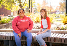 Yana Rouse '21, left, and Marin Harrington '21, right, are helping lead an effort to build a culture of inclusion at Central.