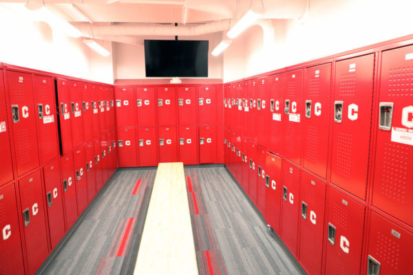 An expansive new women's locker room provided much-needed space and was constructed in the second phase and opened this fall, matching the men's locker room that was added in 2017. Central's women's athletics program didn't exist when P.H. Kuyper Gymnasium was constructed in 1969.