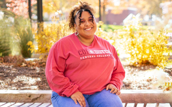 Yana Rouse '21 became Central's first female minority student senate president in Fall 2020.