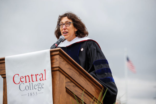 Shannan L. Mattiace '90 gave the Commencement address to the Class of 2021. Mattiace also received an honorary degree at the ceremony