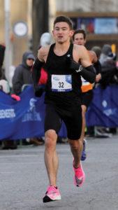 Austin O'Brien '14 participating in a marathon race