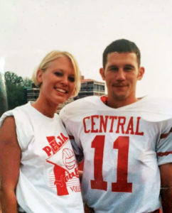 Sunny Gonzales Eighmy '99 and husband Nathan Eighmy '99 during their time at Central.