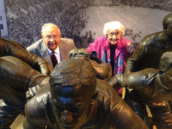 President Emeritus Ken Weller is joined by his wife, Shirely, at the NCAA headquarters in Indianapolis in 2013.